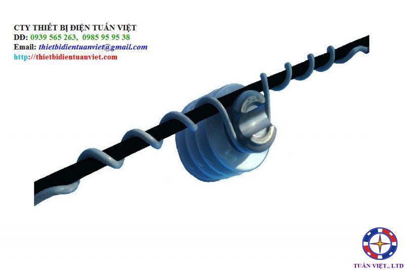 Giáp buộc cổ sứ đơn polyme (plastic)