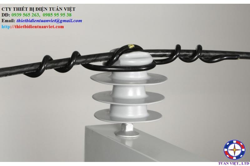 Giáp buộc đầu sứ đơn polymer (plastic)