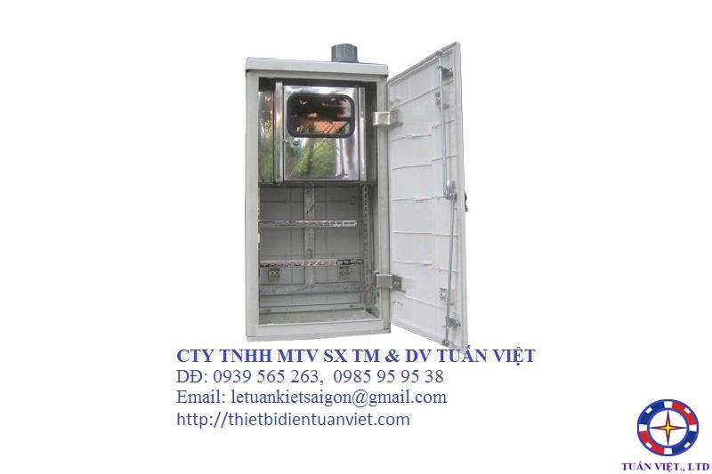 Tủ Điện Kế-MCCB 2 Ngăn Composite 500x990x340mm (Đứng)